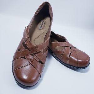 Womens Clark's Bendables Tan Shoes 8 1/2 M